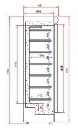 Armoire negative 380l plan