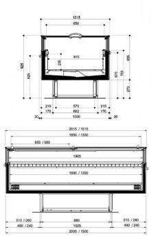 Vitrine panoramique flash plan